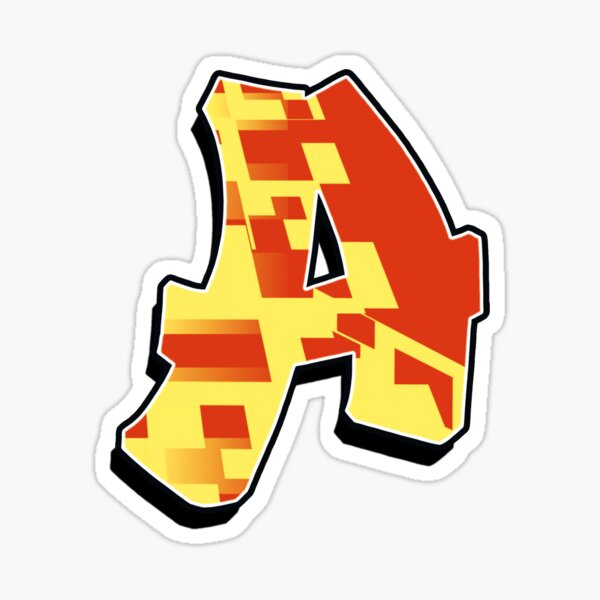 A - blocky Sticker