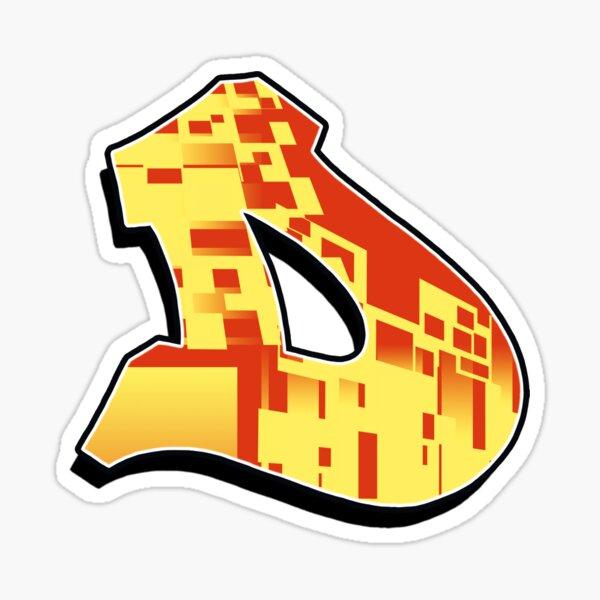 D - blocky Sticker