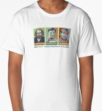Beat Generation Jack Kerouac + Ginsberg + Cassady On The Road Long T-Shirt