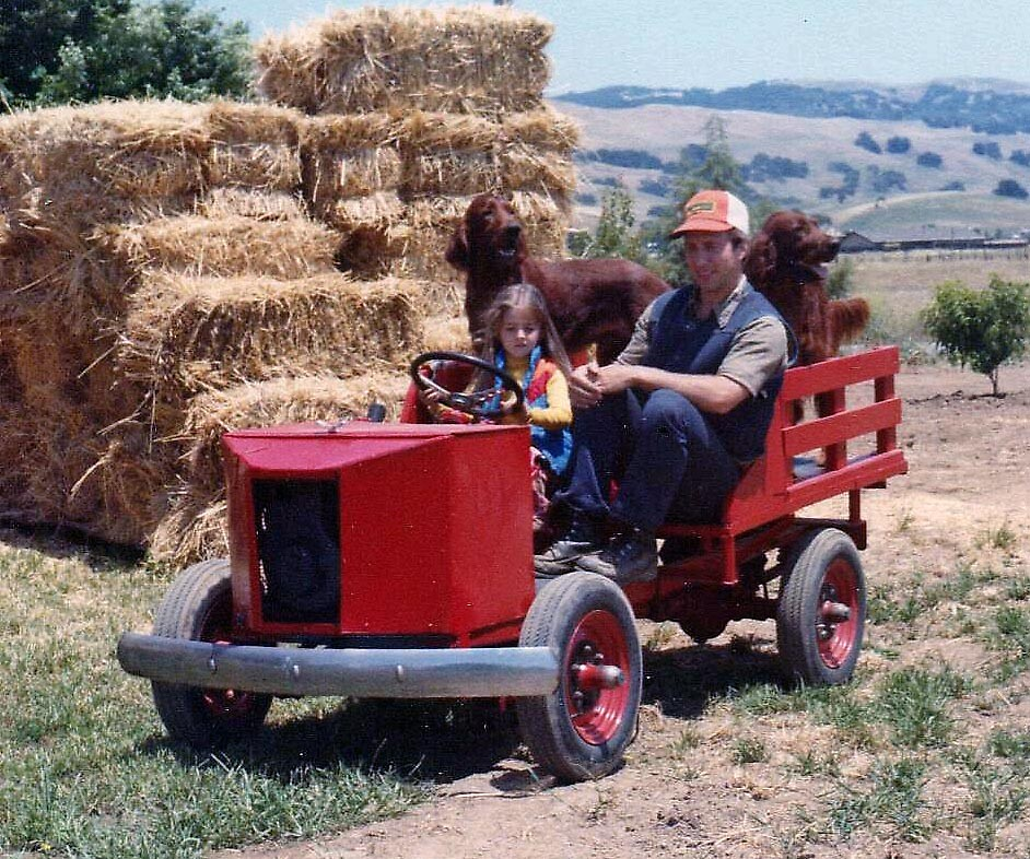 Den teaching niece Tina how to drive by Edward Henzi