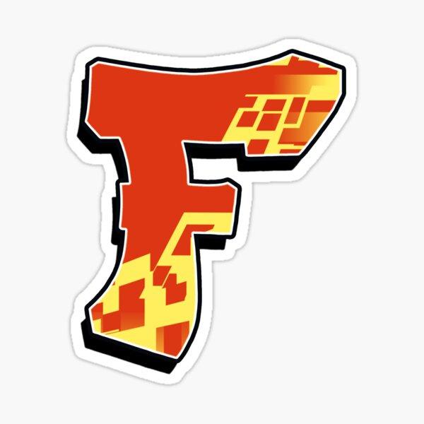 F - blocky Sticker