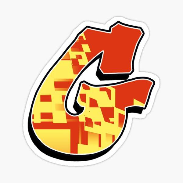 G - blocky Sticker