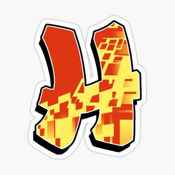 H - blocky Sticker