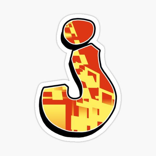 J - blocky Sticker