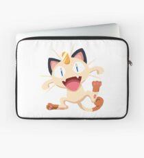 Meowth Pokemon Simple No Borders Laptop Sleeve