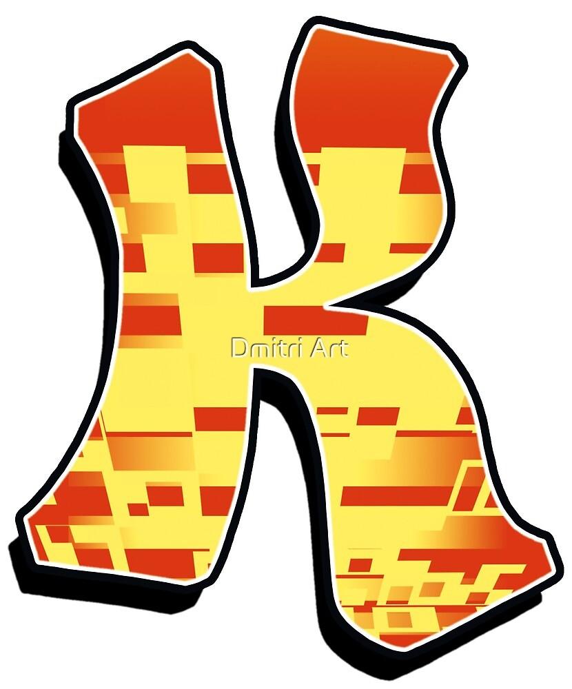 K - blocky by paintcave