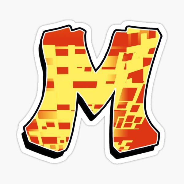 M - blocky Sticker