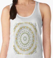 Creamy Yellow Rose Kaleidoscope Art 5 Women's Tank Top