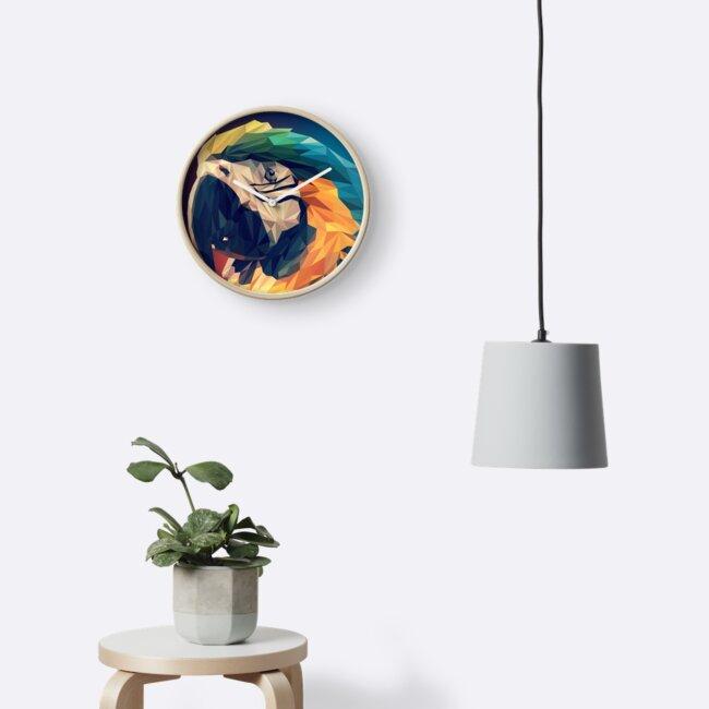 A Vibrant, Geometric Parrot by lizzyetc