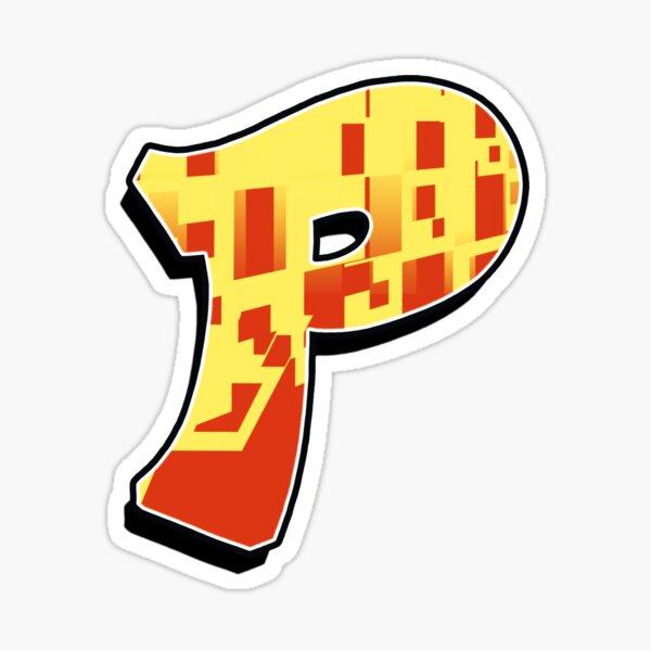 P - blocky Sticker