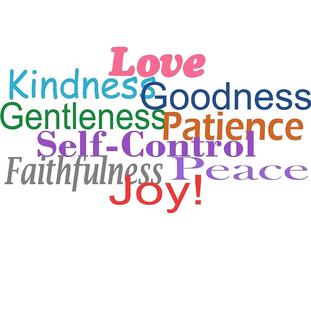 Fruit of the Spirit, New Testament Galatians 5 Quote by sunnydaysdesign
