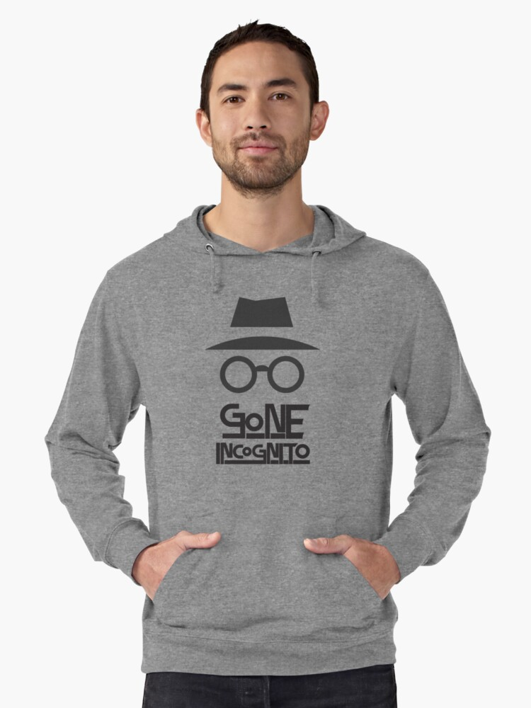 Incognito Mode Lightweight Hoodie Front