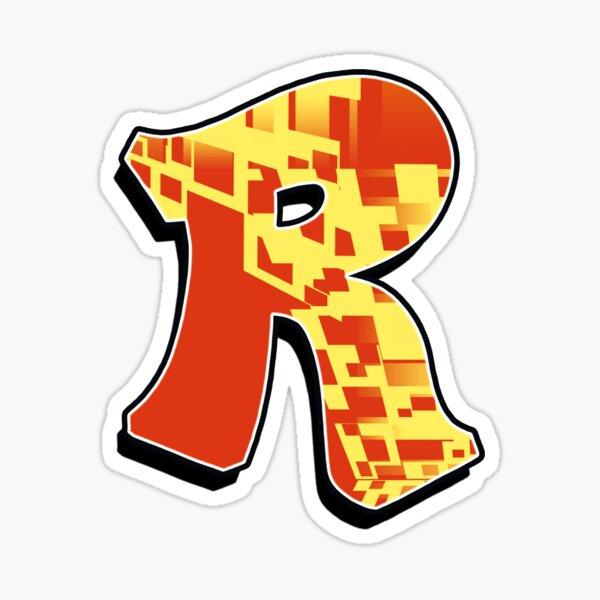 R - blocky Sticker
