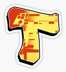 T - blocky  Sticker