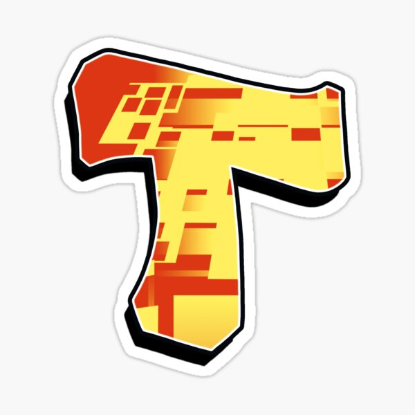 T - blocky  Sticker