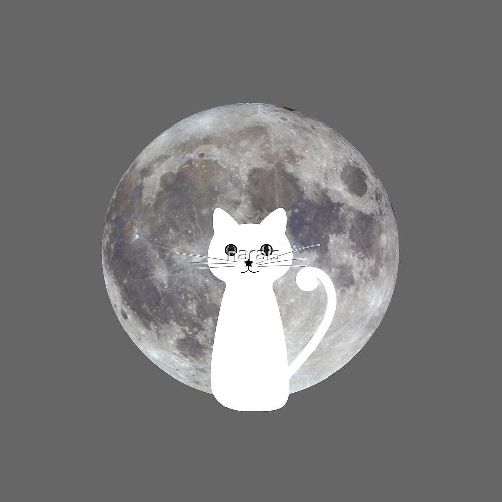 Cat moon by narais
