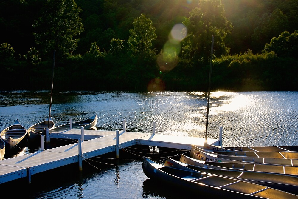 Canoes on the Lake by aripp