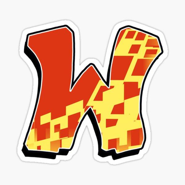 W - blocky  Sticker
