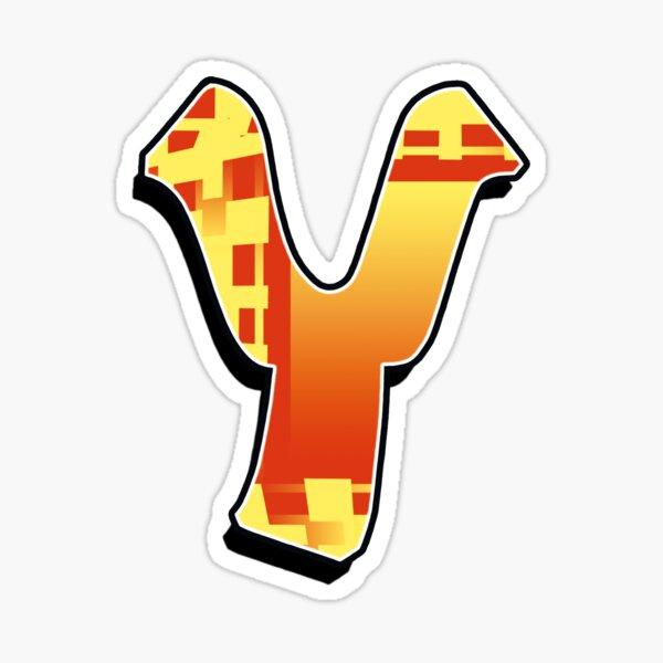 Y - blocky Sticker
