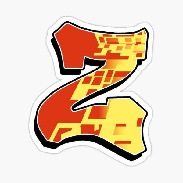 Z - blocky Sticker