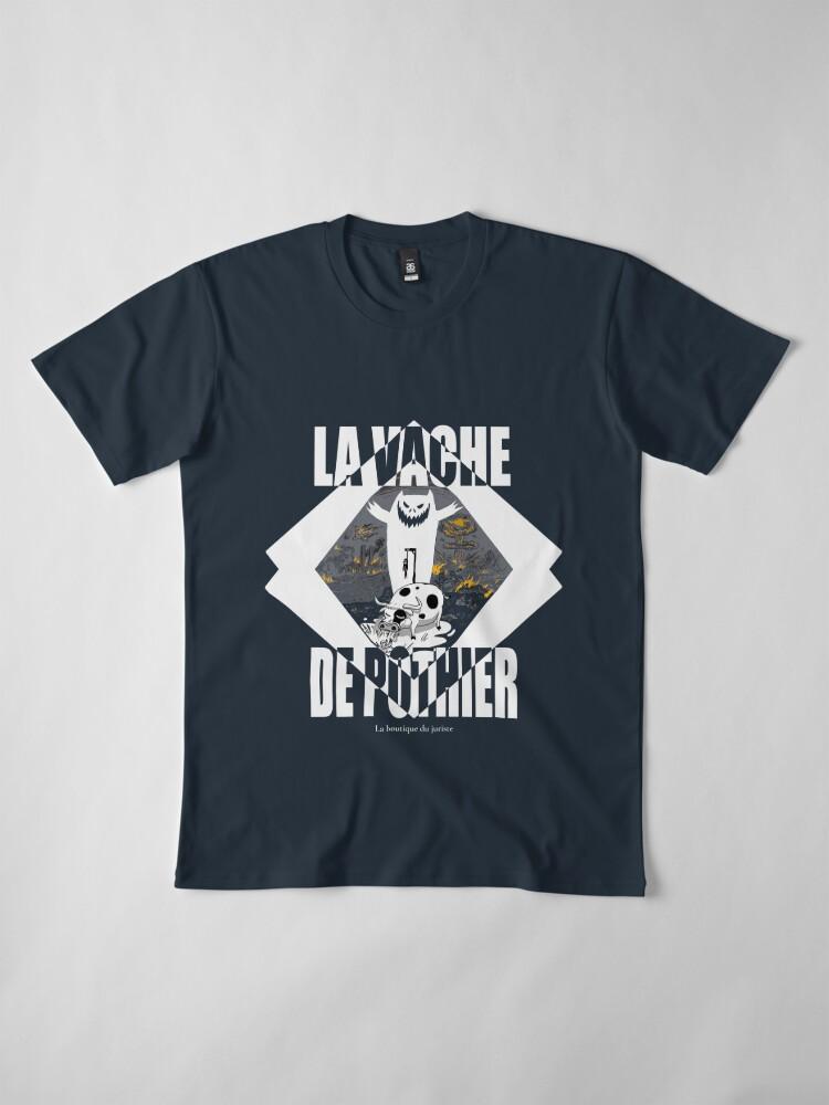 T-shirt premium ''La vache de Pothier': autre vue