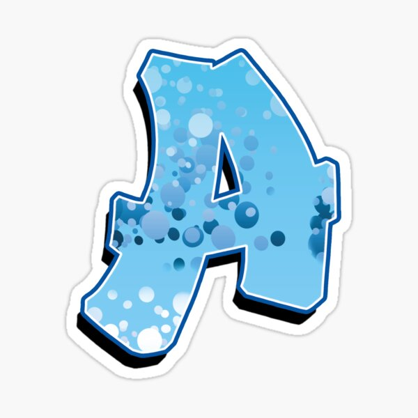 A - bubbles Sticker
