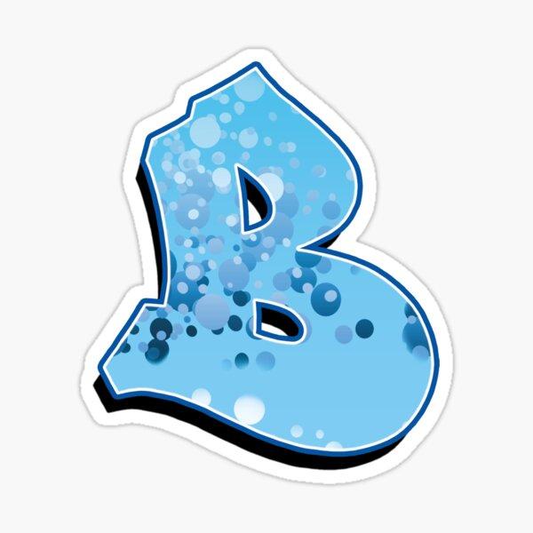 B - bubbles  Sticker