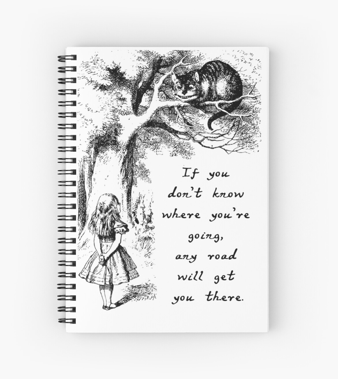 Alice in Wonderland - Cheshire Cat Quote  by BrambleBox
