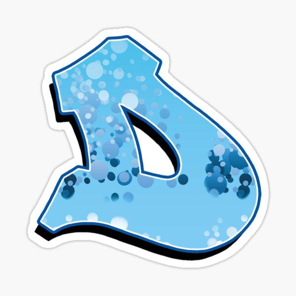 D - bubbles Sticker