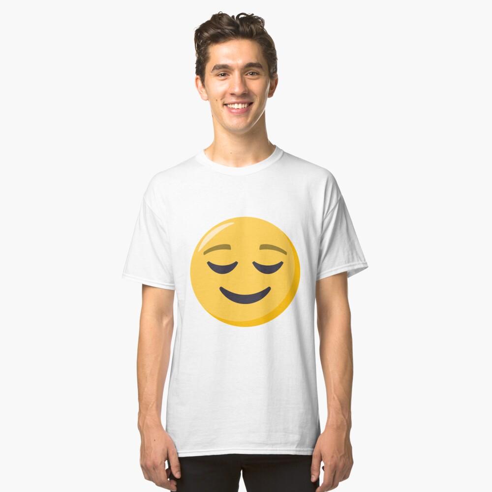 JoyPixels Relieved Face Emoji Classic T-Shirt Front