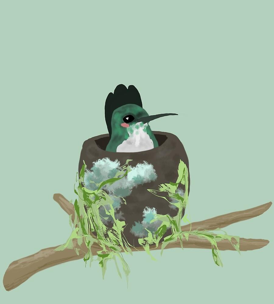Mom Bird by E Tuschhoff
