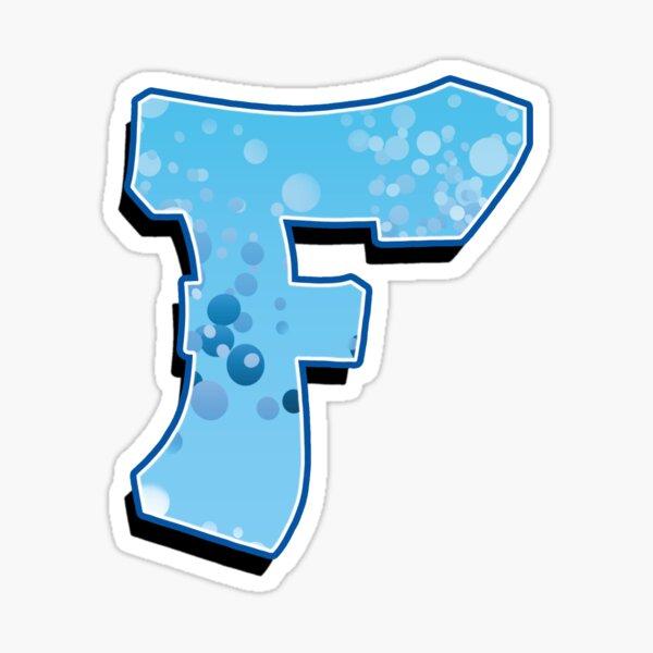 F - bubbles Sticker