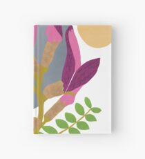 Modern Pink Flowers and Vines Hardcover Journal