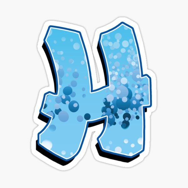 H - bubbles  Sticker