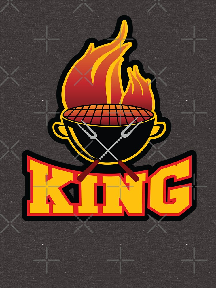 King Of The Grill BBQ Barbecue Smoker Grill Grilling King T-shirt Gift For Men by maindeals