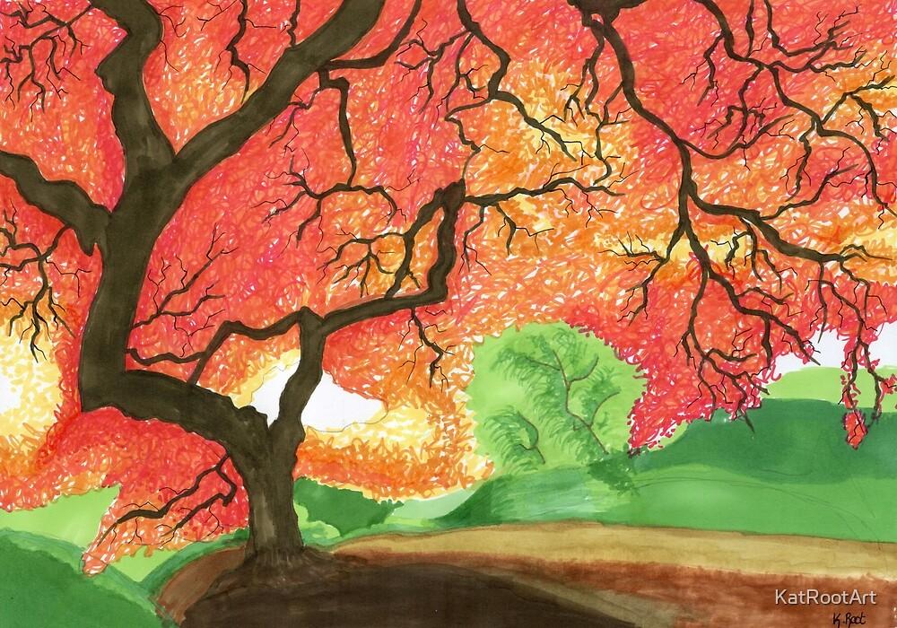 The Burning Tree by KatRootArt