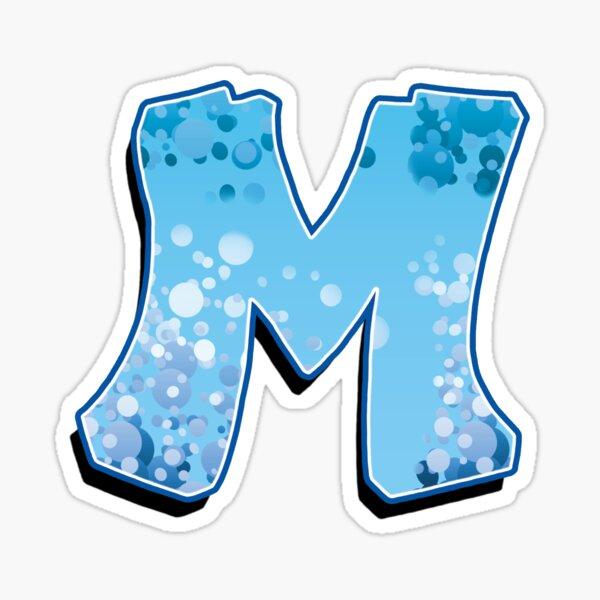 M - bubbles Sticker