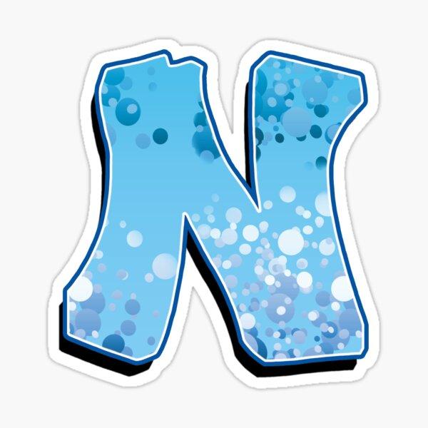 N - bubbles  Sticker
