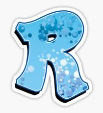 R - bubbles Sticker
