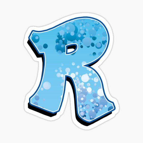 R - bubbles Sticker