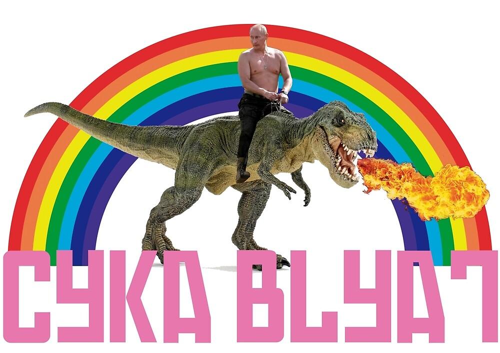 Putin Jurassic Cyka Blyat by Domingo Tralla
