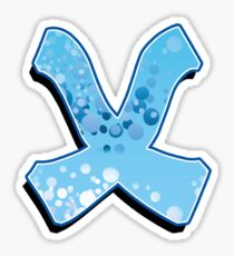 X - bubbles  Sticker