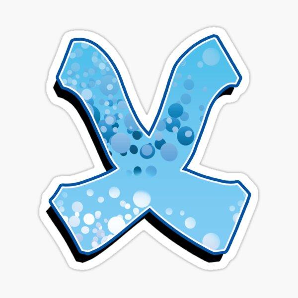 X - bubbles  Sticker