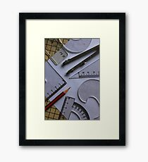 Shapes and Angles Framed Print