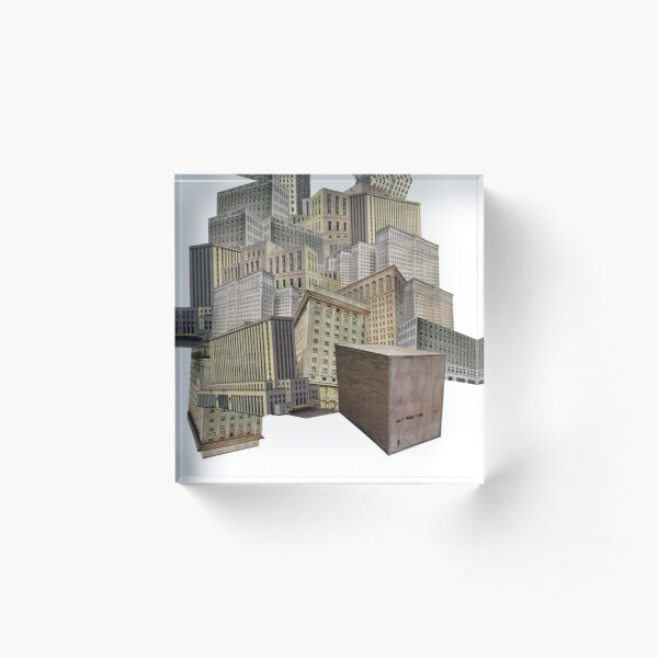 Sonder Collage Acrylic Block