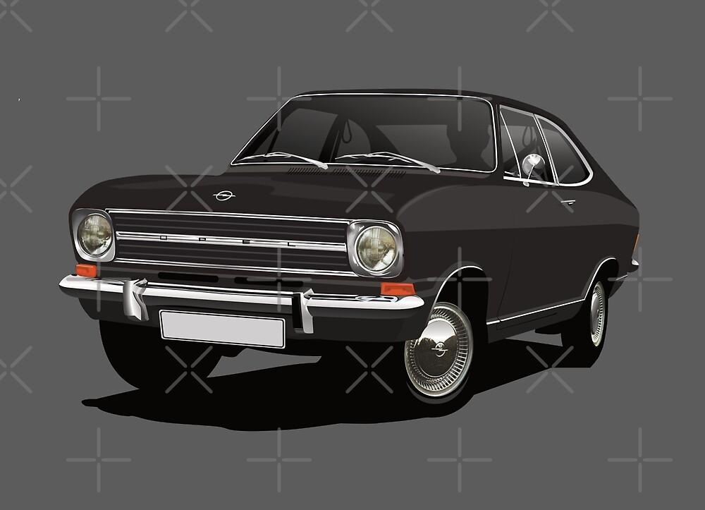 Black Opel Kadett B Coupe by knappidesign