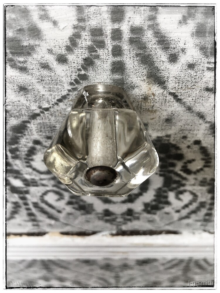 Antique Glass Drawer Pull Knob by l-g-smith