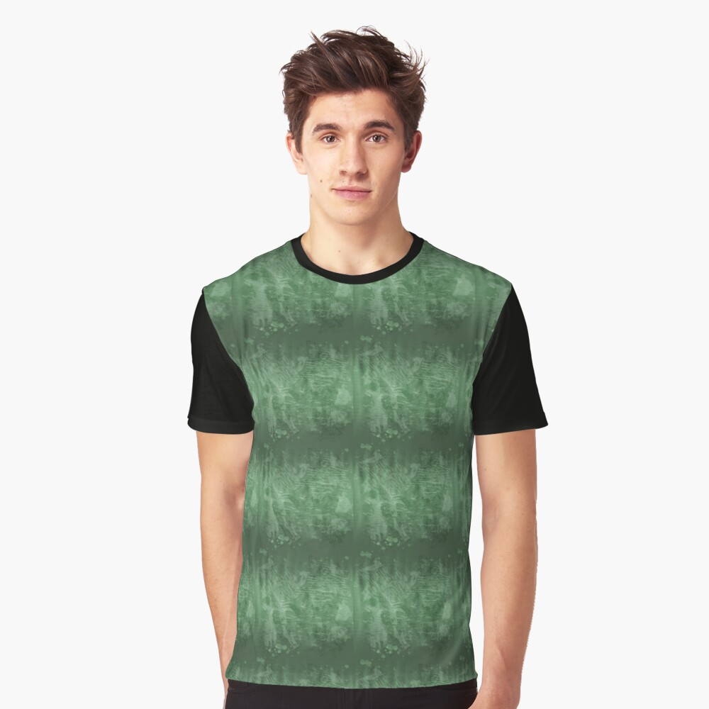 Green Graphic T-Shirt Front