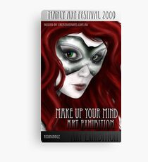 Make Up Your Mind Art Exhibition Poster Canvas Print