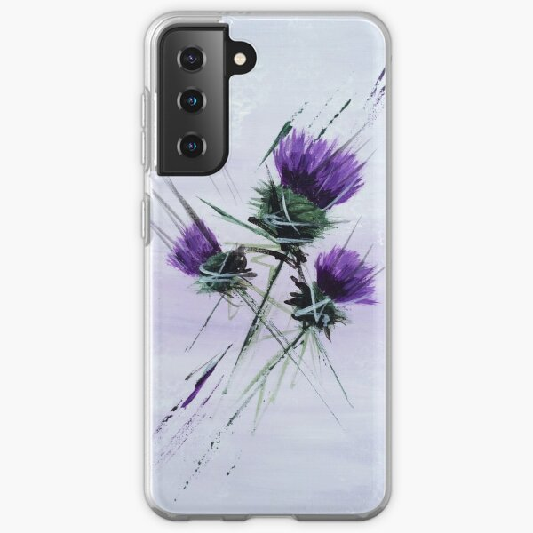 Scottish Thistles artwork in a contemporary style Samsung Galaxy Soft Case